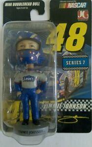 Jimmie Johnson #48 NASCAR Bobble Dobble Mini Bobblehead Bendable Figure