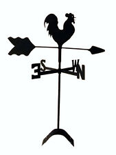 rooster chicken roof mounted weathervane black wrought iron made in usa