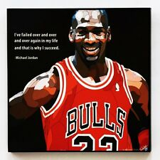 Michael Jordan canvas quotes wall decals photo painting framed pop art poster #2
