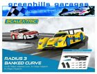 Greenhills Scalextric Radius 3 Banked Curve x 2 Including Supports - BNIB - M...