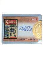 2008 Iron Man Movie Autograph Case Incentive Topper Card Larry Lieber Marvel B1