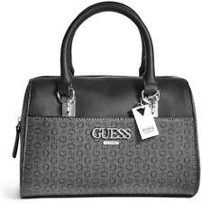 NEW GUESS Women's Muze Black Logo Print Box Satchel Handbag Purse Crossbody