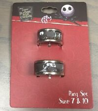 Disney The Nightmare Before Christmas Spiral Hill His 10 Hers 7 Ring Set NWT!
