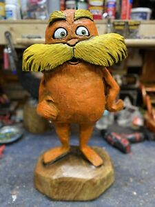 LORAX Chainsaw Carving LOCUST WOOD Lorax Statue Monster Dude ONE of a KIND ART