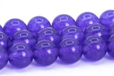 "8MM Purple Jade Gemstone Beads Grade AA Round Loose Beads 15"""