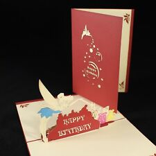 POP UP 3D birthday card - tinkerbell fairy with delicate wings and wand