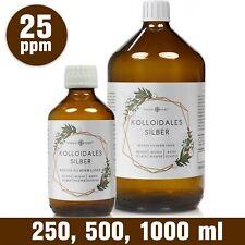 Kolloidales Silber (Silberwasser), 25 ppm in Apotheker-Glasflasche (250-1000 ml)