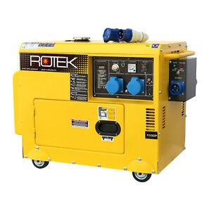 Stromerzeuger 5,5kVA Stromaggregat 230V Notstromaggregat Generator Diesel ATS
