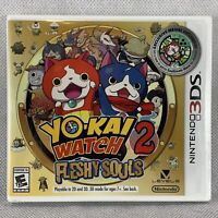 YoKai Yo Kai Watch 2 Fleshy Souls Nintendo 3DS Video Game Sealed Medal Included