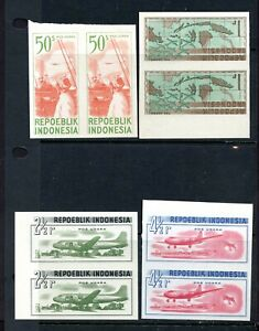 Indonesia STAMPS Sc#c15-18 IMPERF PAIRS MNH