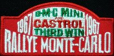 Rallye Monte Carlo 1967 iron on/sew on cloth patch  (tg)