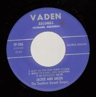 HEAR! Hillbilly Gospel Vaden 45 JACKIE AND ARLEN Just As the Sun Went Down / Mor