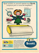 PUBLICITE ADVERTISING  1967    SCOTT   essuie-tout