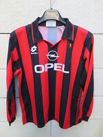 VINTAGE Maillot MILAN AC n°8 maglia LOTTO shirt 90'S ancien XS