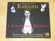 DIGIPACK 2 CD / KARAJAN / 4 SYMPHONIES MAJEURES / NEUF SOUS CELLO