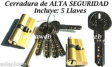 Cerradura TC6 3030L 15 ALTA SEGURIDAD Cilindro Anti Taladro Anti Ganzua, Bombin