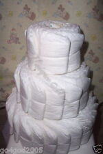 L@K.Undecorated 3 tier diaper cake