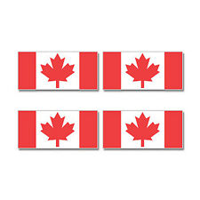 Canada Canadian Country Flag - Sheet of 4 - Window Bumper Stickers