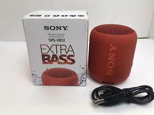 Sony SRS-XB12 Portable Wireless Speaker - RED