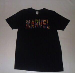 Gildan Black Marvel T-Shirt Size L- XL