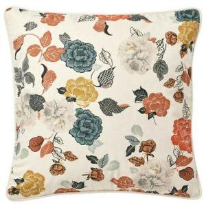 "Ikea Trollmal Pillow Cushion Cover 20"" x 20"" Natural/ Flower Floral - New"