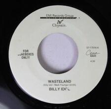 Rock Unplayed 45 Billy Idol - Wasteland / Neuromancer On Chrysalis
