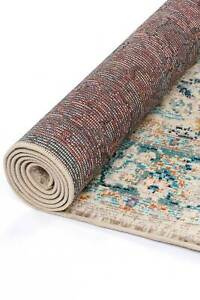 Aydan Floral Faded Multicolour Traditional Runner Rug 80x300cm **FREE DELIVERY**