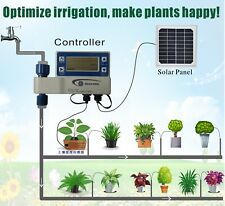 Solar Powered Outdoor Garden Hose Sprinkler Auto Irrigation Controller TimerHome