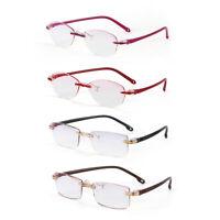 Unisex Reading Glasses Presbyopia Eyeglasses Computer Goggles Rimless