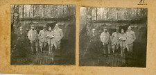 STEREO, France, Secteur de Badonviller, Popote  Vintage silver print. WW I. Séri