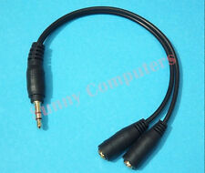 Stereo Earphone Y Splitter 3.5mm AUX Plug Audio Headphone Cable Adapter Cord