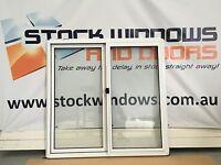 Aluminium Sliding Window DOUBLE GLAZED 1200h x 1210w WHITE  (IN STOCK)