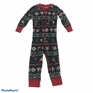 Hanna Andersson Boy's Christmas Pajamas One Piece Gnomes Holiday Footless 3T 90