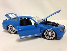 "2010 Ford Mustang GT, Collectible, 8"" Diecast 1:24 Scale, Jada Toys, Blue"