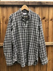 Turnbull & Asser Mens Informalist Autumn Winter Grey Checked Shirt Large UK Made