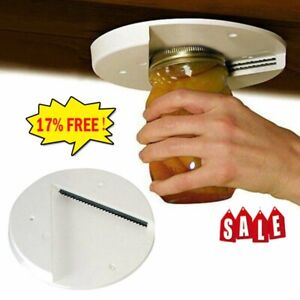 Arthritis Glass Cans Jar Opener for Under the Kitchen Cabinet Lid Remover Aid