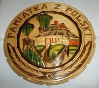 "Vintage Hand Crafted Pamiatka Z Polski Collector Plate- 12 1/2""D"