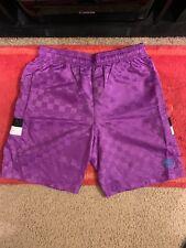Umbro Tri-Check Purple Nylon Active Shorts (Medium)