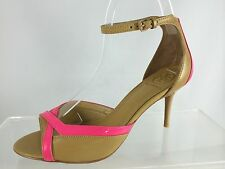 $325 New Tory Burch Lois Iced Coffee/fluo Pink Womens Shoes 8 M