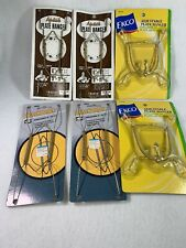 Lot Of 6 Vintage Metal Wire Spring Plate Holders Wall Hangers Decorative Display