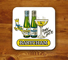 Babycham retro 'Beermat' - Baby you've got it