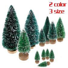 5pcs Mini Sisal Bottle Brush CHRISTMAS Tree Santa Snow Frost Village Putz House