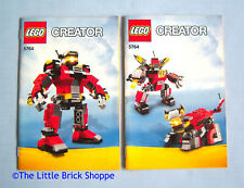 Lego Creator 5764 Rescue Robot - INSTRUCTION BOOK 1 & 2 ONLY - No Lego