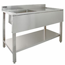 Commercial Double Sink Unit Stainless Steel 3660mm X 685mm