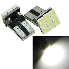 2X T10 194 168 W5W 9 LED SMD 3528 blanc Wedge voiture Clignotants ampoule lampe