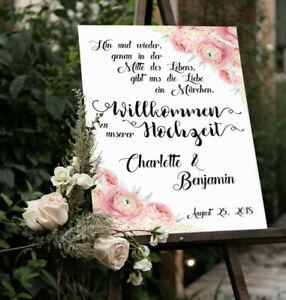 Hochzeitsschild, Personalisiert, Märchen, Hochzeitsdeko, Willkommensschild