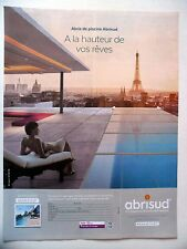 PUBLICITE-ADVERTISING :  ABRISUD  2016 Piscine,Tour Eiffel