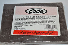 "Brand New CODE Griddle Screen - 60 Pieces  4"" X 5.5"" Pro Cleaning Solutions"