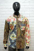 Camicia Uomo Desigual Taglia 2XL Maglia Polo Shirt Regular Floreale Cotone Hemd