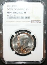 1971 D KENNEDY HALF DOLLAR ERROR COIN DOUBLE CLIPPED ERROR NGC Certified Coin!